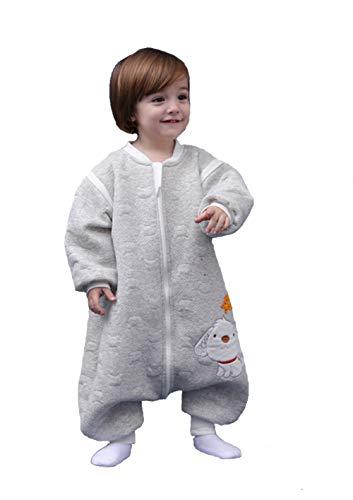 Babyfat sacco nanna/pigiama con piedini neonato bambino autunno/invernale 2.5tog grigio label 100(2-3t)
