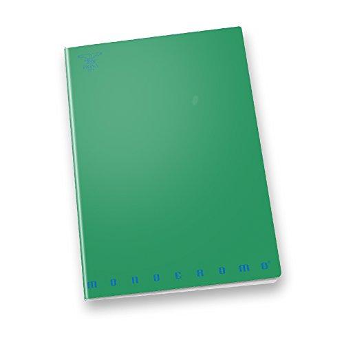 Pigna monocromo 02217791r, quaderno formato a4, rigatura 1r, righe per medie e superiori, carta 80g/mq, pacco da 10 pezzi