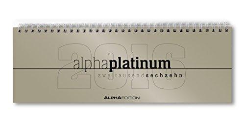 Tisch-Querkalender alpha platinum 2016 - Tischkalender/Bürokalender (29,7 x 10,5) - 1 Woche 2 Seiten - platin - Platin 10.5