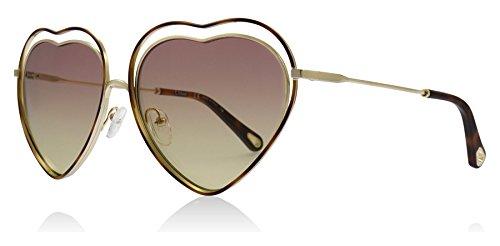 Chloe CE131S 239 Havana / Rose Honey Poppy Love Aviator Sunglasses Lens Category 1 Size 61mm