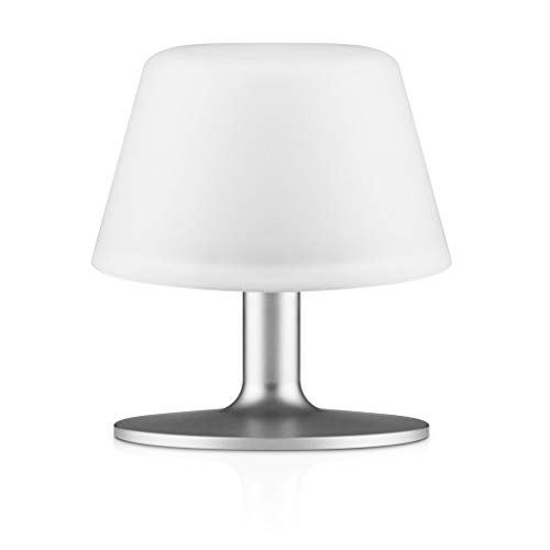 Eva Solo 571337.0 Sunlight Table Lamp, Solar Cell, Accessories for The House, White, 13.5cm, 571337 [Energy Class A], Glas, Weiß, 19,8x17,6x17,4 cm