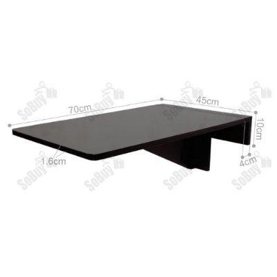 SoBuy® Tavolo da muro pieghevole in legno 70×45cm, FWT04-W, IT ...
