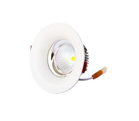 LineteckLED® - E10.001.12C Faretto ad incasso rotondo con parabola 12W COB LED in alluminio colore bianco luce calda (3000K) 1200 lumen fascio luminoso 65° Trasformatore incluso