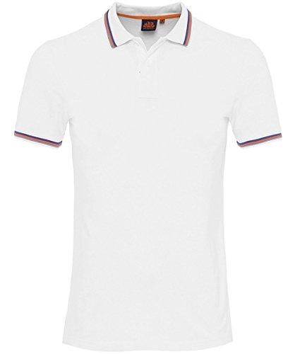 Sundek Herren Pique Polo-Shirt von brice Weiß L (Stricken Sport-shirt Pique)