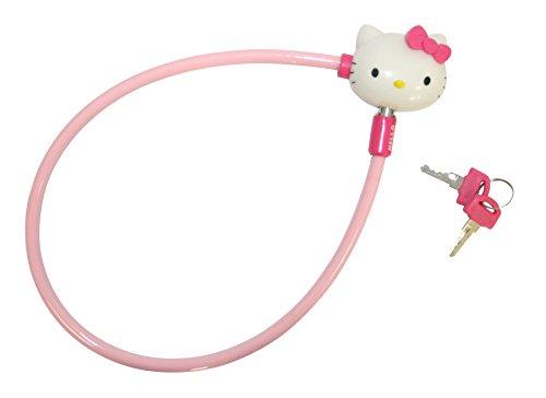 Hello Kitty Mädchen Fahrradschloss mit Kunststoffschleife und 2 Schlüsseln Kinder, rosa
