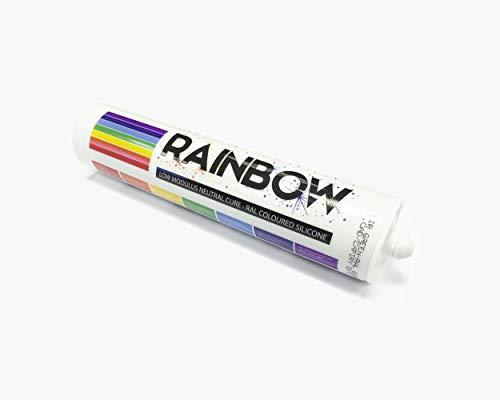 Rainbow RAL farbig Silikone grau weiß Abdichten Mastix Dichtstoff RAL9002 300ml