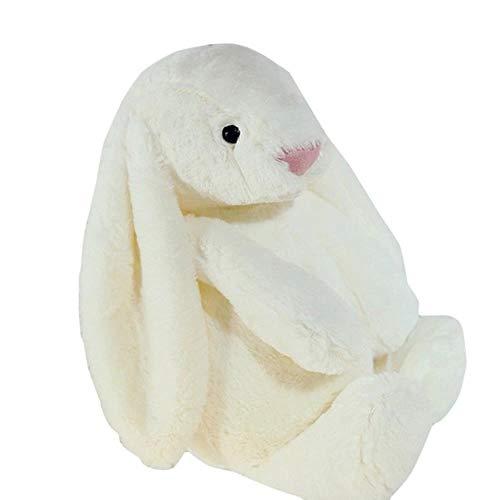 Likezz 1pcs fumetto belle peluche orecchie lunghe giocattolo coniglio figurine morbido farcito coniglietto pasqua decor bambini bambini regalo di compleanno di pasqua, bianco
