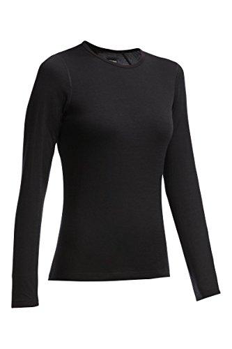 Crewe Shirt Women black Größe XS 2018 Unterwäsche (Womens Tier-unterwäsche)