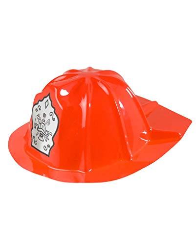 Horror-Shop Roter US Feuerwehr Helm für Kinder