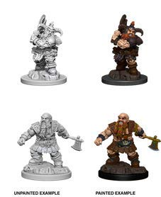 Dungeons & Dragons Nolzur's Marvelous Unpainted Minis: Male Dwarf Barbarian
