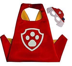 squishybean 1Set Kinder Cape und Masken Paw Patrol Marshall Kostüme Super Hero Kleid bis Paw Patrol Marshall Kostüme Avengers Rocky Marshall Skye Schutt Zuma Chase Fancy Kleid (Rocky Halloween-kostüm)
