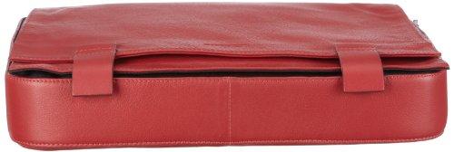 Bodenschatz Capetown 8-030 CT 19 Unisex - Erwachsene Umhängetaschen, Rot (red), 32.5x6.5x24 cm (B x H x T) Rot/red