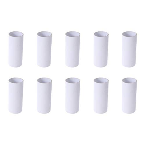 Supvox 30 stücke Handwerk rollt weißen karton rohre für klassenzimmer projekte, DIY Kunst und Handwerk (weiß)