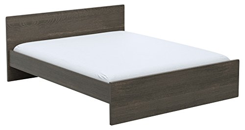 INFINIKIT Haven Bett 160 x 200 cm - graue Eiche Optik -