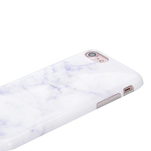 Für iPhone 6 Plus Hülle, für iPhone 6S Plus Case, Sunroyal TPU Case Weich Flexible Silikon Gel Ultra Slim Schutz Cover Kratzfeste Dauerhaft Schock-Beweis Bumper Etui Rundum-schutz Marmor Handyhülle fü Pattern #4