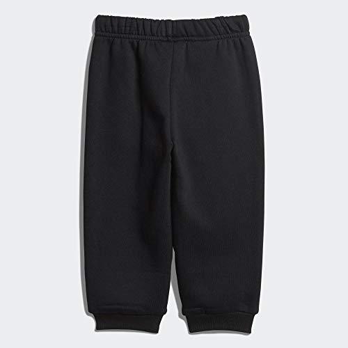 adidas Baby Linear Jogger Trainingsanzug,  Top:Medium Grey Heather/Black Bottom:Black/White, 98 (L)