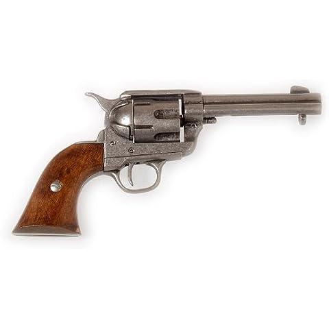 Denix–Revolver Colt Peacemaker PM 86USA 1873, calibro 45con fondina in pelle nero o. Marrone, Ohne Holster, 45
