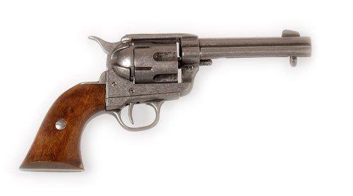 deko-revolver-colt-peacemaker-pm-86-usa-1873-kaliber-45-inkl-leder-holster-schwarz-o-braun-ohne-hols