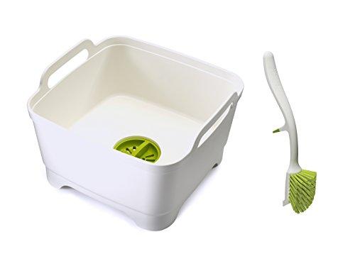 joseph-joseph-wash-and-drain-washing-up-bowl-and-dish-brush-set-white-green