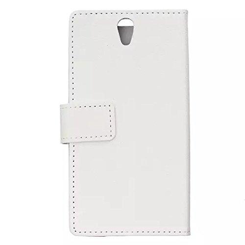 Solid Color Kas Textur Muster Leder Schutzhülle Case Horizontal Flip Stand Hülle mit Karten Slots für Lenovo Vibe S1 ( Color : White , Size : Lenovo Vibe S1 ) White