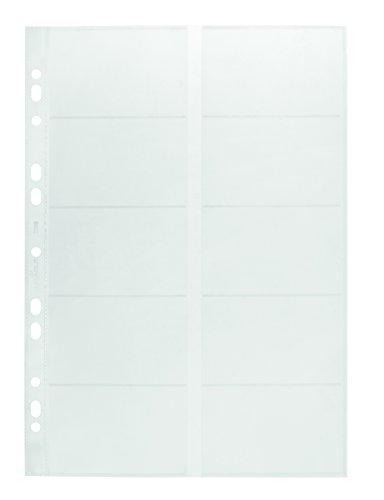 Durable 238919 Visitenkartenhüllen A4, für Ringbücher und Ordner, 10 Stück, transparent