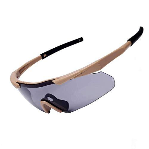 Outdoor Augenschutz Army Fan Glasses, Bergsteigerbrillen (Color : Yellow)