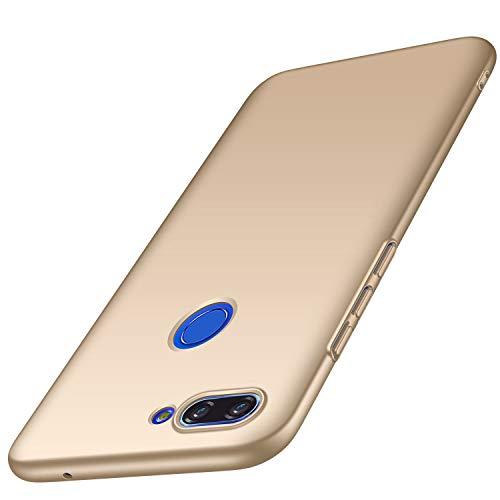AOBOK Funda Xiaomi Mi 8 Lite, Ultra Slim Duro Fundas Anti-Rasguño y Resistente Huellas Dactilares Totalmente Protectora Caso Duro Carcasa Case para Xiaomi Mi 8 Lite Smartphone, (Oro)