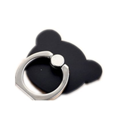 TBOP PHONE RING BUCKLE THE BEST OF PLANET SIMPLE & STYLISH Phone ring bracket bear ring buckle paste men and women cartoon couple super cute wholesale in black color