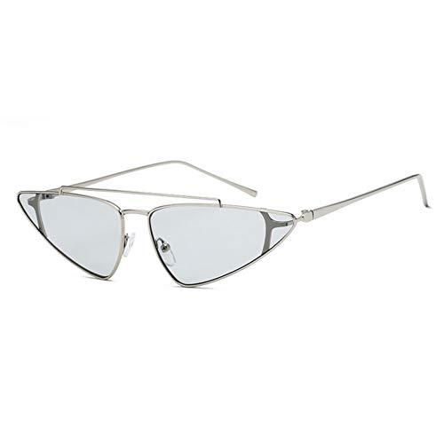 WZYMNTYJ Weinlese-Dreieckige Katzenauge-Sonnenbrille Für Frauen-Kleine Designer-Farbton-Brillen Retro Katzenauge-Sonnenbrille Weibliches Uv400
