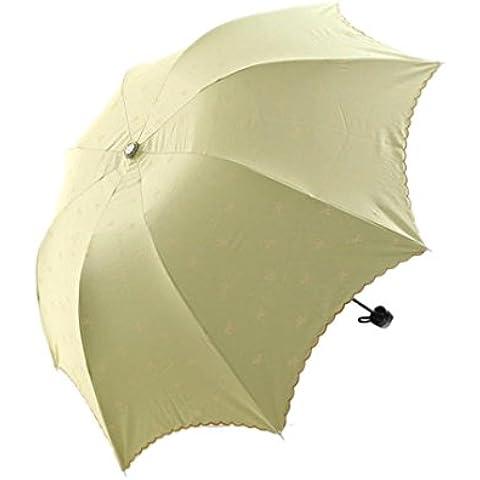 Toraway manera de la señora princesa bordado de encaje arco cúpula sombrilla sol / lluvia paraguas plegable