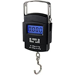 Skycandle Weighing Scale Digital Heavy Duty Portable, Hook Type with Temp, 50Kg