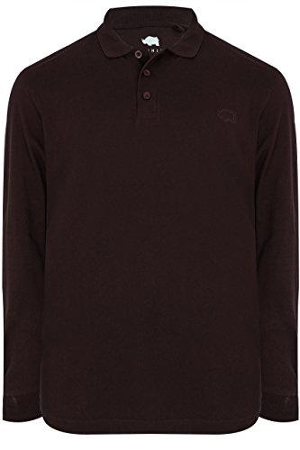 Mens Badrhino Long Sleeve Polo Shirt Tall Size Xlt