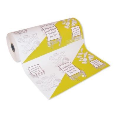 1 Rollenpapier Einschlagpapier Bäckerseide 50cm breit neutral bedruckt