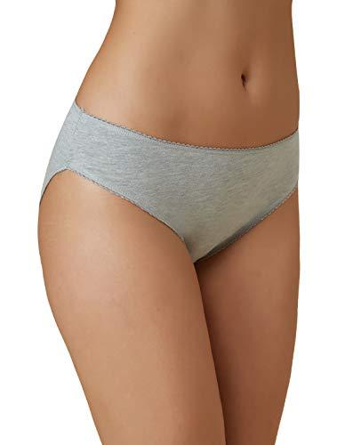 VANEVER Femme Tai Slip Coton Bikini Extensibles Culotte Picots Dentelle Multipacks Lot de 5 Noir & Blanc & Gris 16