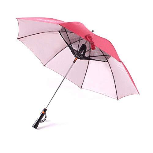Zihuist Sombrilla de Mango con Ventilador y Lluvia de Agua - Paraguas a Prueba de Rayos UV Protección...