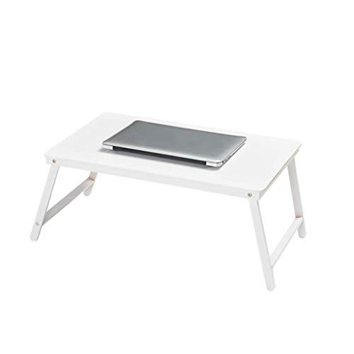 Qiuoorsqurp Bed faul Klappcomputertisch, einfacher Schreibtisch, Frühstücksservice Tablett Tisch, Gesundheitsmaterialien (Color : C)