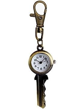 Unisex Neuheit antiken Schlüssel Taschenuhr mit Kette Quarzwerk Taschenuhr