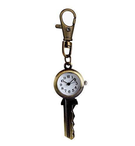 Unisex Neuheit antiken Schlüssel Taschenuhr mit Kette Quarzwerk Taschenuhr (Antik-neuheit)