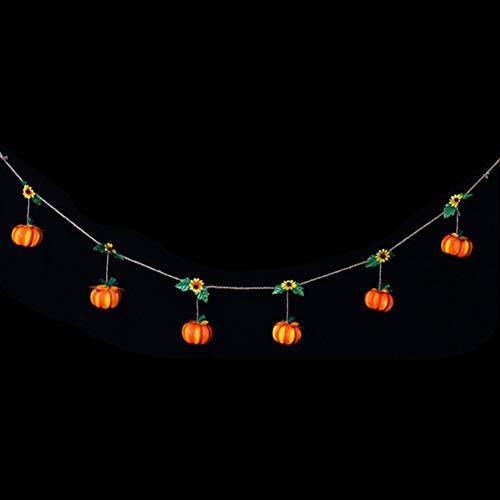 SWIDUUK SEAWOOD Cute Happy Halloween Hängedekoration Hexe Kürbis Bell Banner Party Dekoration, 1, Pumpkin*