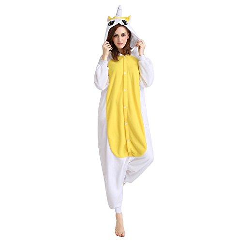 Imagen de m&a pijamas cosplay unicornio franela para disfraz mujer hombre y pareja carnaval hallowen ropa de dormir m amarillo