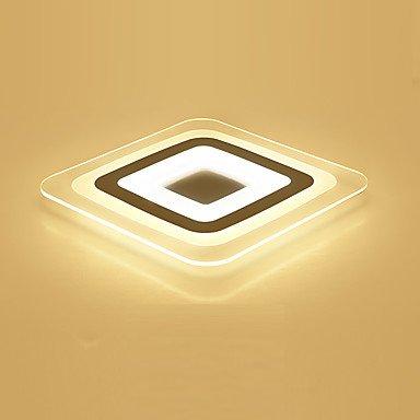 SDKKY Moderne LED-Acryl das Schlafzimmer Lampe stufenlos dimmen Wohnzimmer Licht Inklusive Fernbedienung, rechteckig 50 x 50 cm