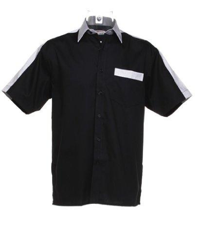 Gamegear - T-shirt de sport -  - Manches courtes Homme Noir - Blanc/argent