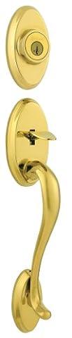 Shelburne Double Cylinder Entrance Handleset Finish: Lifetime Polished Brass