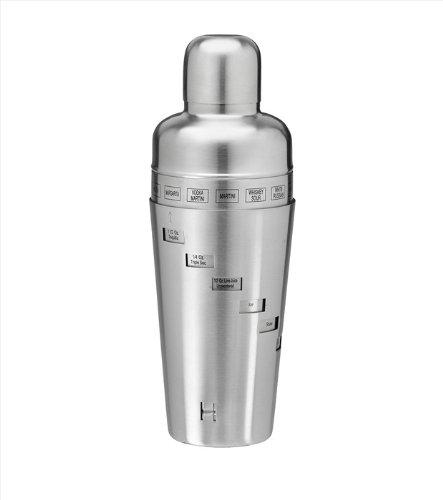 Kraftware Edelstahl gebürstet 909Rezept Cocktail Shaker Kraftware Shaker