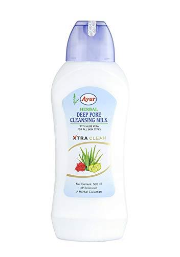 Ayur Aloe (Glamorous Mart - Ayur Kräuter Tief Pore Reinigungsmilch, 500ml)