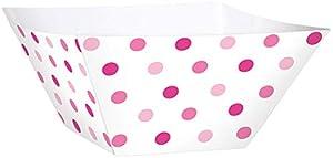 Amscan 147000rosa bufé de papel cuadrado cuencos