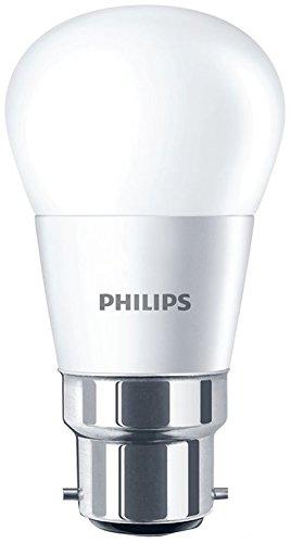 Philips B22 Ampoule LED à baïonnette Mini globe givré 4 W (25 W) Blanc chaud, Verre, blanc, B22, 4 wattsW