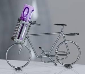 """Modell-Fahrrad aus Metall """"Geldbote"""" für Geldgeschenke"""