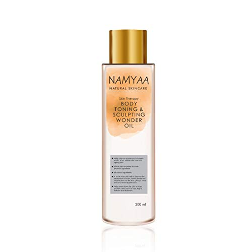 Namyaa Natural Science Body Toning/Sculpting Wonder Oil For Scars/Stretch Mark/Ageing/Uneven Skin Tone/Firming/Nourishment, 200 ml