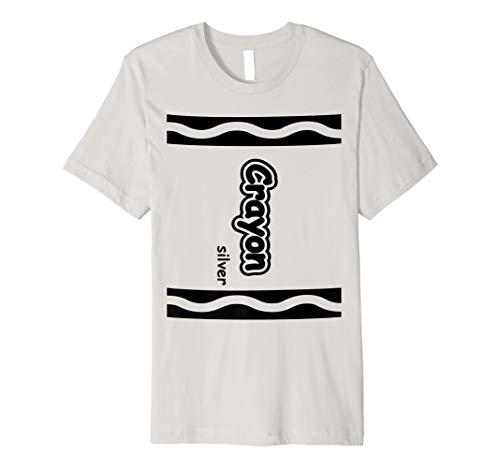 Silber Kreide einfach Halloween-Kostüm CUTE T-Shirt (Kostüm Frauen Crayon)